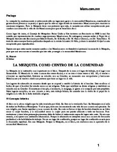 LA MEZQUITA - The Islamic Bulletin
