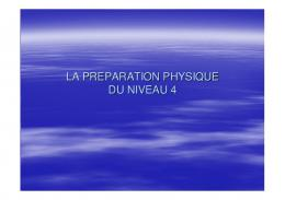 LA PREPARATION PHYSIQUE N4