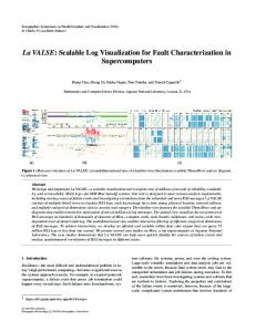 La VALSE: Scalable Log Visualization for Fault Characterization in