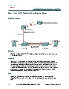 Lab 4-1 Inter-VLAN Routing with an External Router - SaD GuLL For