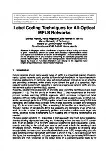 Label Coding Techniques for All-Optical MPLS Networks