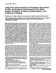 Label-Free Determination of Picogram Quantities of DNA by Stripping ...