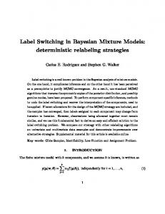 Label Switching in Bayesian Mixture Models