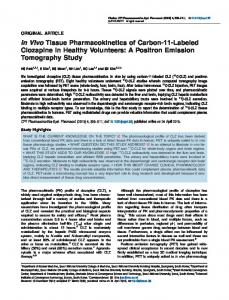 Labeled Clozapine in Healthy Volunteers: A