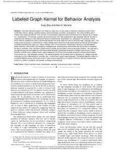Labeled Graph Kernel for Behavior Analysis - OSU ECE - The Ohio