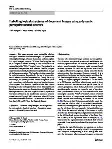 Labelling logical structures of document images using a ... - CiteSeerX
