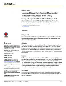 Labetalol Prevents Intestinal Dysfunction Induced ... - Semantic Scholar