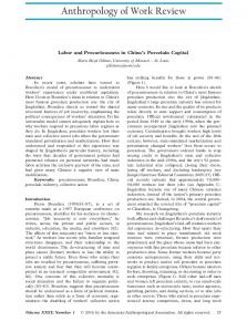 Labor and Precariousness in Chinas Porcelain ... - Wiley Online Library