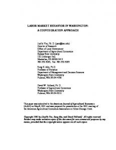 labor market behavior in washington: a cointegration approach - Core