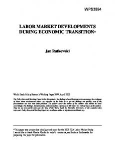 labor market developments during economic transition - CiteSeerX