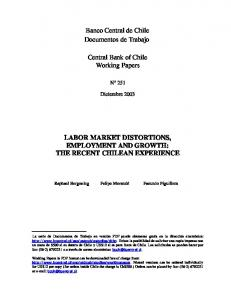 labor market distortions, employment and growth - Dialnet