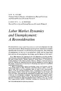 Labor Market Dynamics and Unemployment: A ... - Brookings Institution