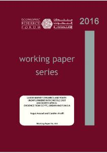 labor market dynamics and youth ... - Economic Research Forum