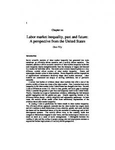 Labor market inequality, past and future - CiteSeerX