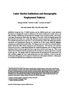 Labor Market Institutions and Demographic
