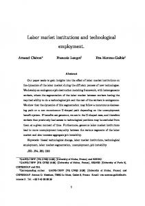 Labor market institutions and technological employment.