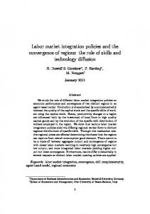 Labor market integration policies and the ...