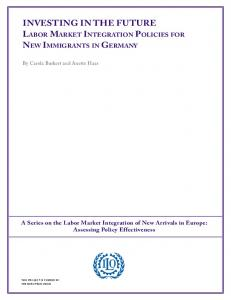 Labor Market Integration Policies for New Immigrants in Germany