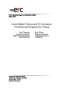 Labor Market Policies and EU Accession - METU Economic Research ...