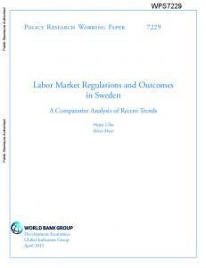 Labor Market Regulations and Outcomes in Sweden