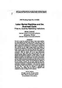Labor Market Rigidities and the Business Cycle: