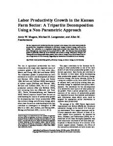 Labor Productivity Growth in the Kansas Farm Sector - AgEcon Search