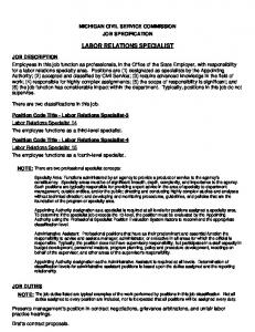 LABOR RELATIONS SPECIALIST