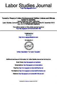Labor Studies Journal
