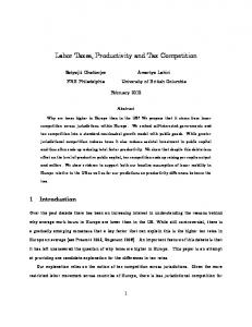 Labor Taxes, Productivity and Tax Competition