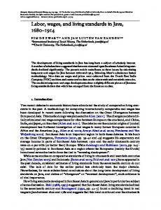 Labor, wages, and living standards in Java - Oxford Academic