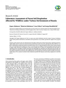 Laboratory Assessment of Forest Soil Respiration Affected by Wildfires ...