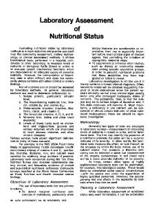 Laboratory Assessment of Nutritional Status
