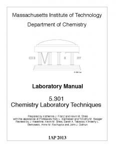 CHEMISTRY LABoRATORY MANUAL FOR FIRST YEARS - jkuat