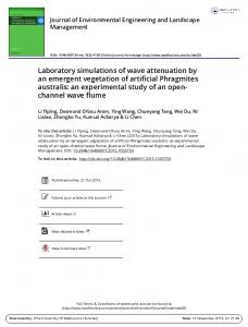 Laboratory simulations of wave attenuation by an ...