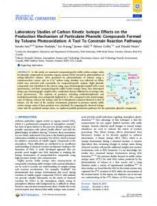 Laboratory Studies of Carbon Kinetic Isotope Effects on the Production ...