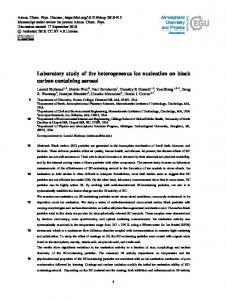 Laboratory study of the heterogeneous ice nucleation on black carbon