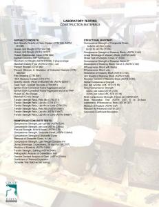 LABORATORY TESTING CONSTRUCTION MATERIALS ...