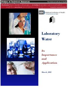 Laboratory Water-Its Importance and Application - Office of Research ...