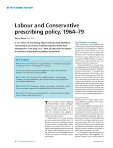 Labour and Conservative prescribing policy ... - Wiley Online Library