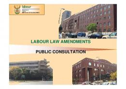 Labour Law Amendments - Department of Labour