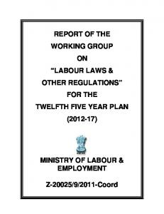 labour laws & other regulations - of Planning Commission