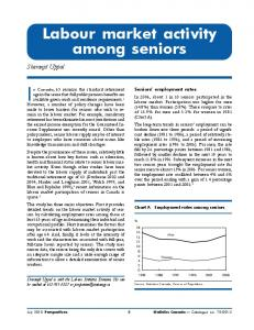 Labour market activity among seniors - Statistics Canada