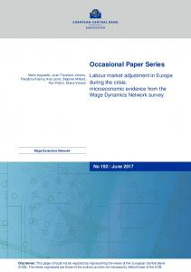 Labour market adjustment in Europe during the crisis