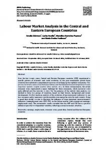 Labour Market Analysis in the Central and Eastern ... - IBIMA Publishing