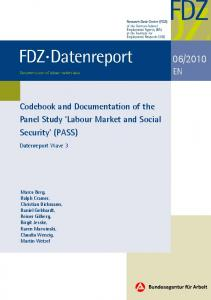 'Labour Market and Social Security' (PASS) - iab