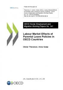 Labour Market Effects of Parental Leave Policies in OECD Countries
