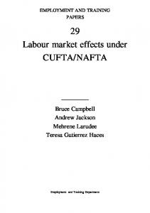 Labour market effects under CUFTA/NAFTA - CiteSeerX