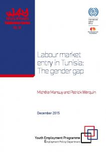 Labour market entry in Tunisia: The gender gap - ILO