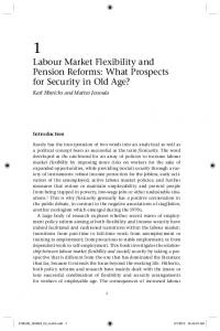 Labour Market Flexibility and Pension Reforms: What