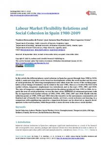 Labour Market Flexibility Relations and Social Cohesion in Spain ...